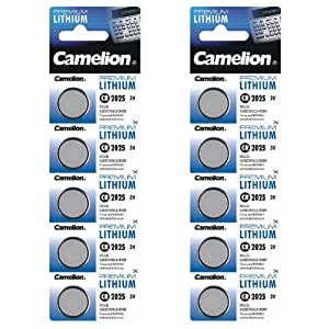 Camelion 10-er Pack Lithium Knopfzelle 3 V DL2025/5003LC CR2025