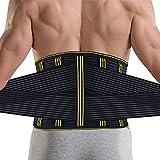 Rückenbandage Rücken Gurt-Rückenbandage Sport Rückenstützgürtel Fitness Rückengurt mit Stabilisierungsstäben und Zuggurt zur effektvoller Schmerzreduktion und Haltungskorrektur für Damen und Herren