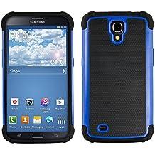 kwmobile Funda para Samsung Galaxy Mega 6.3 - Case híbrida de TPU silicona - Hard Cover en azul negro