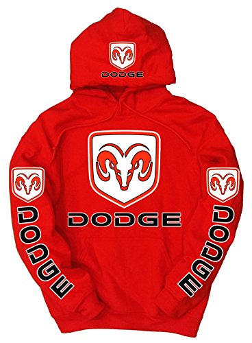 dodge-logo-hoodie-rot-xl