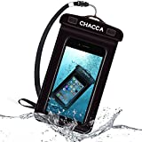 Funda Impermeable Móvil, CHACCA Funda Impermeable para Teléfono Móvil , Funda Impermeable Universal para Smartphones, Llave Sensible para iPhone 6/5 / 5S / 5C, Samsung S3 / S4 / S5, HUAWEI P6 / P7, 6.3 ' L X 3.9 'W, Negro