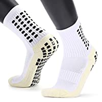 Festnight Men's Anti Slip Football Socks Athletic Long Socks Absorbent Sports Grip Socks for Basketball Soccer Volleyball Running Trekking Hiking 1 Pairs / 3 Pairs
