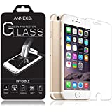 """iPhone 6S Plus Screen Protector, Anneks® Premium Invisible Tempered Glass Screen Protector for iPhone 6s Plus / iPhone 6 Plus (5.5"""") with Crystal Clear Transparency 9H Hardness and Ultra Slim Design, Force Touch / 3D Touch Compatible - Fits the iPhone 6/6s Plus Perfectly With No Halos"""