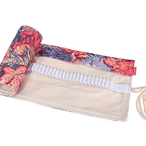 Sacchetto della Matita - LATH.PIN Vintage Tela Wrap Borsa Stazionario Carino Matite Colorata Roll-up Titolare (Cancelleria Registrato)