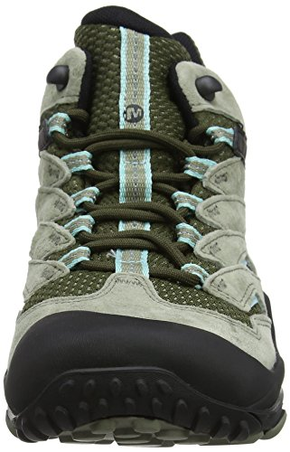 Merrell Cham 7 Limit Mid Waterproof, Chaussures de Randonnée Hautes Femme Vert (Dusty Olive)