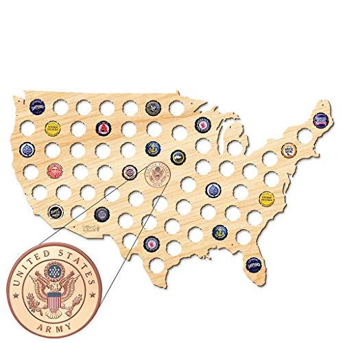 USA Karte Bierkarte Bier Gap Karte 109 Farben - ein Geschenk für Männer Eine lustige Geschenkidee für Bierfreunde und Geschenke für Bierfreunde & Bier Geschenke - Platz