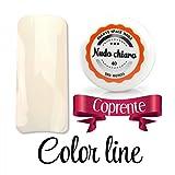 Color Line–Couleur couvrante et effet verre –Gel UV coloré 5ml, reconstruction de faux ongles Blanc cassé
