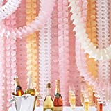 nuosen Hanging Garland, riutilizzabile appeso ghirlanda quattro-foglio carta velina ghirlanda di fiori stelle filanti per festa di Natale Decorazioni di nozze (6confezione da 10piedi/3M Long)