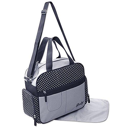 GMMH 2 tlg Wickeltasche Pflegetasche Windeltasche Babytasche Farbauswahl blau 2130