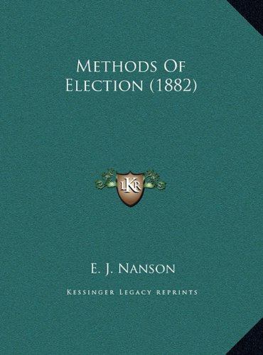 Methods of Election (1882)