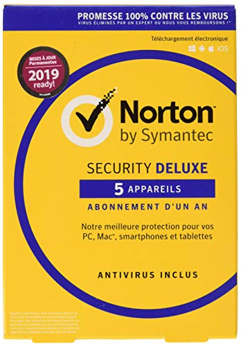 Symantec Norton Security Deluxe 3.0 Base license 5 utente(i) / 1 anno/I, Francese
