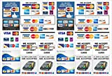 #8: MAHALAXMI Art All Credit Card Accepted Here Sticker Cut and Paste Anywhere Poster Print on 13x19 inches, Multicolor