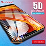 Marshland® Tempered Glass 5D Screen Protector Anti Scratch Bubble Free Premium Quality Marshland Edge to Edge Tempered Glass Compatible with Xiaomi Poco F1 / Pocophone F1 (Black)