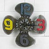 reloj de pared CivilWeaEU- Reloj Retro de la Pared Ventilador Industrial Retro