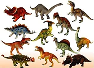 Loggas Red Rock Plastic Reptiles Animal Dinosaur Model(Multicolour)- Set of 6pcs