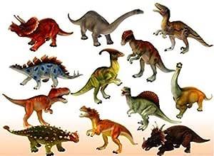 Red Rock GL Plus Plastic Reptiles Animal Dinosaur Model Toy 6 Pcs Multi-Color hmc-2037