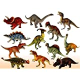 Red Rock Products Loggas Plastic Reptiles- Animal Dinosaur Model (Multicolour)- Set of 6 Pcs