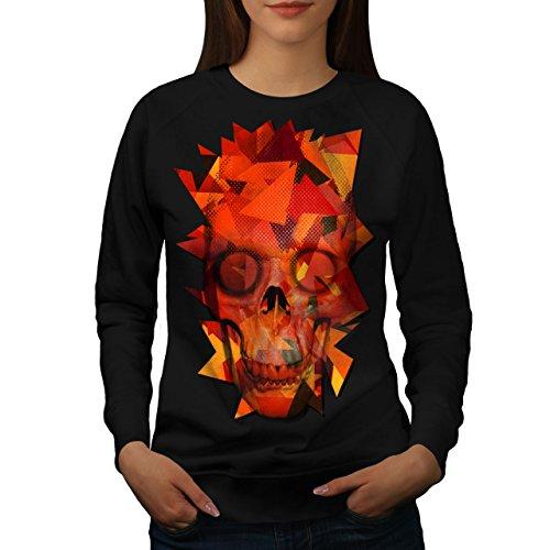 Géométrique Crâne Mode Femme S-2XL Sweat-shirt | Wellcoda Noir