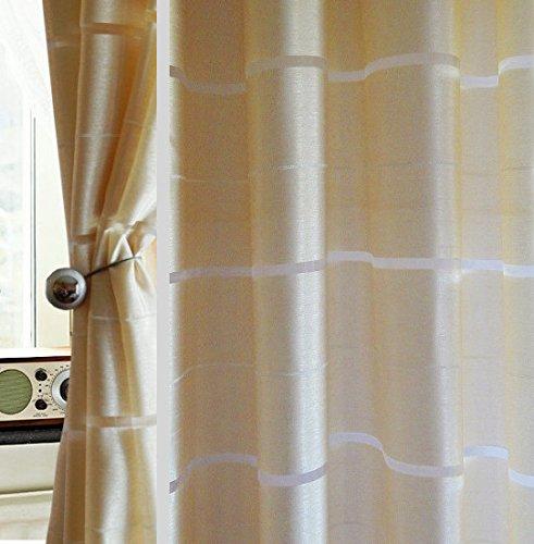 Tenda a occhiello semitrasparente sciarpa a occhiello sciarpa sciarpa decorativa per finestra tenda decorativi a colori strisce balcone di 2 tende con occhielli 145x245 cm agv v9
