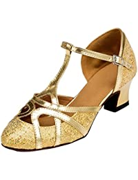 misu - Zapatillas de danza para mujer Plateado plata, color Dorado, talla 37