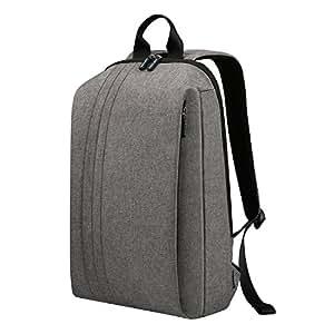 REYLEO Backpack Slim Business Work Laptop Backpack Waterproof School Bag for Office, College, Daily, Men Women - Grey