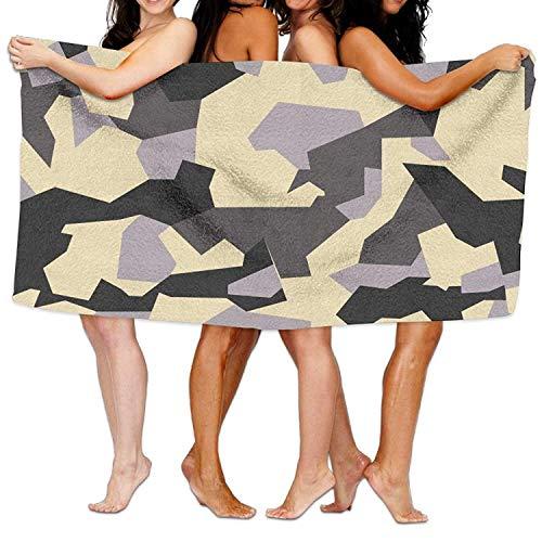 xcvgcxcvasda Serviette de bain, Camo Beach Towels Ultra Absorbent Microfiber Bath Towel Picnic Mat for Men Women Kids