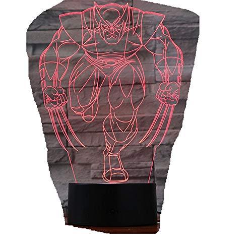 n Nachtlicht / 3D Tischlampe/Party Dekoration/Wolverine Lampe3D ()
