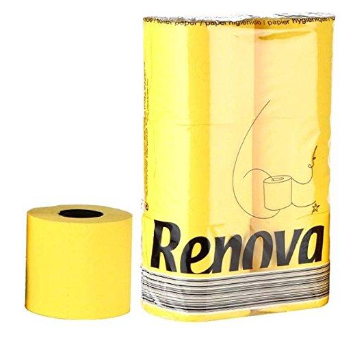 Preisvergleich Produktbild Renova Fuchsia WC-Papier Family Pack–6Pack