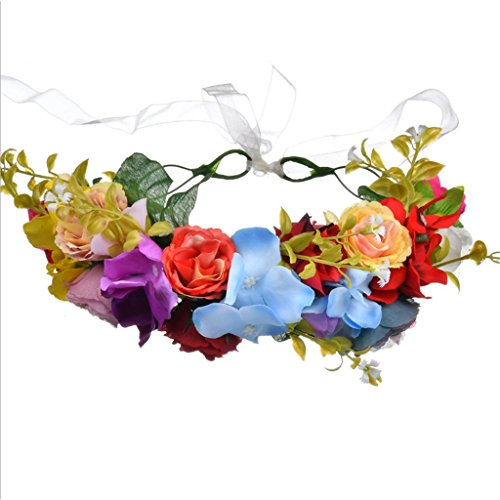 Cuigu Floral Haarband, Rose Stirnband, Hochzeit Kopfbedeckung für die Braut, Frauen Accessoires