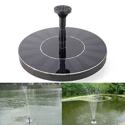 topdeal 16,5cm Outdoor Solar Powered Wasser schwimmende Pumpe Brunnen, Garten Teich Springbrunnen Set, freistehend, Garten 1.4W Solar Panel Kit Wasser Pumpe (Solar-panel-kits)