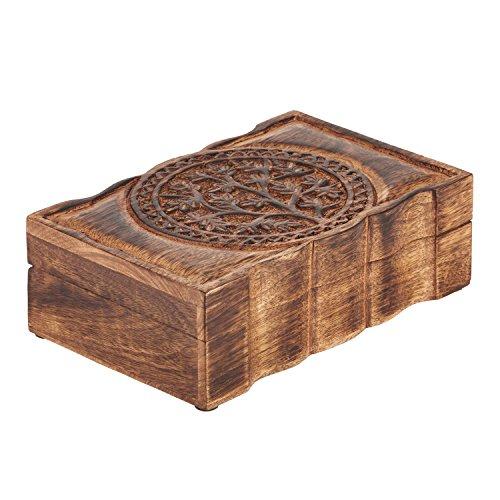 d825a39c33ef Joyero decorativo hecho a mano de la joyería de la caja de madera del  organizador del