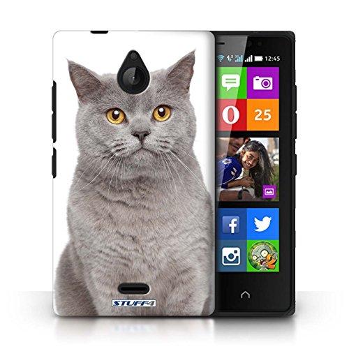Kobalt® Imprimé Etui / Coque pour Nokia X2 Dual Sim / Sibérien conception / Série Espèces de chats Bleu britannique