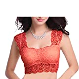 Floral Lace Blouse cum Crop Top Padded w...