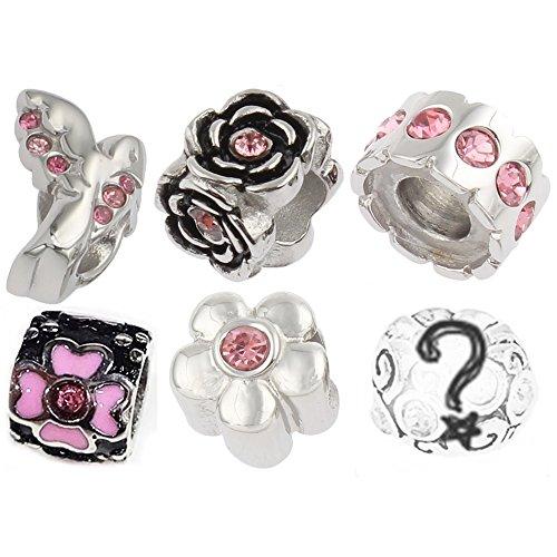 05893575f34f TimeLine Treasures acero inoxidable pulsera cuentas para Pandora acero rosa  2