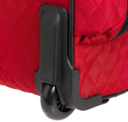 Travelon Rädern underseatkann unter Handgepäck mit Backup-Tasche, schwarz (schwarz) - 6454-Black-One Size rot
