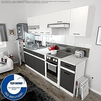 k che 240cm von fiwodo erweiterbar g nstig schnell einbauk che junona line set 240 4. Black Bedroom Furniture Sets. Home Design Ideas