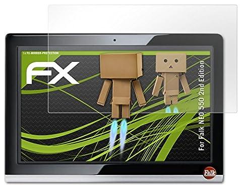 Falk NEO 550 2nd Edition Spiegelfolie - atFoliX FX-Mirror Displayschutz Folie mit Spiegeleffekt