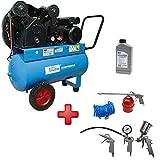 Güde Kompressor 415/10/50 N + 5 tlg. Druckluftset + Druckluft Öl