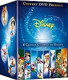 Coffret Grands Classiques Disney - Exclusivité Amazon.fr (Bambi, Pinocchio, Bernard et Bianca, Dumbo, Les Aristochats, Merlin l'enchanteur, Robin des bois, Rox et Rouky)