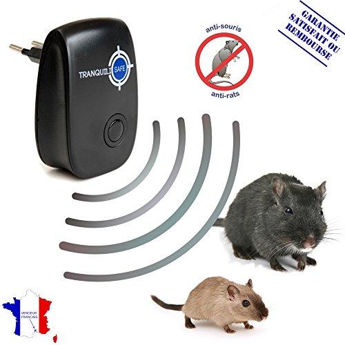 Ultraschall Schädlingsbekämpfer I Hilft gegen Mäuse, Ratten, Nager I Mäuse vertreiben & Rattenbekämpfung im Haus I Besser als jede Falle oder Gift – schwarz, von TRANQUILISAFE®
