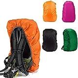 GADA Wasserdichter Regenschutz Rucksack Cover Regenhüllen Regenabdeckung für Camping Wandern und Sonstige Outdoor Aktivitäten (Schwarz)