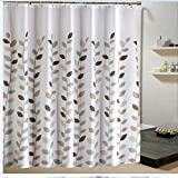 AIMENTE Cortina de ducha de poliéster Baño decoración impermeable con ganchos 180x200cm