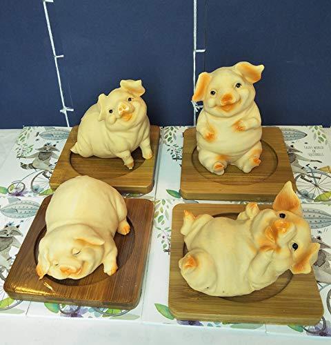 en Simulation Fett Schwein Fett Schwein Ornamente Nette Sternzeichen Schwein Handwerk Tee Pet Gartenarbeit Kreative Geburtstagsgeschenk 4 ()