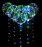 Mystery&Melody 1pcs 5pcs 10pcs stücke Led Bobo Ballon Lichter Beste Wiederverwendbar Dekorationen für Festival Geburtstagsparty Leuchtende Lampen 18 zoll Lichterketten (10PCS)