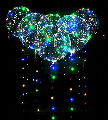10pcs LED Bobo Globo Luces Reutilizable Lámparas Decoraciones para Festival Cumpleaños Fiesta Luminoso 18 pulgadas Luces de cadena