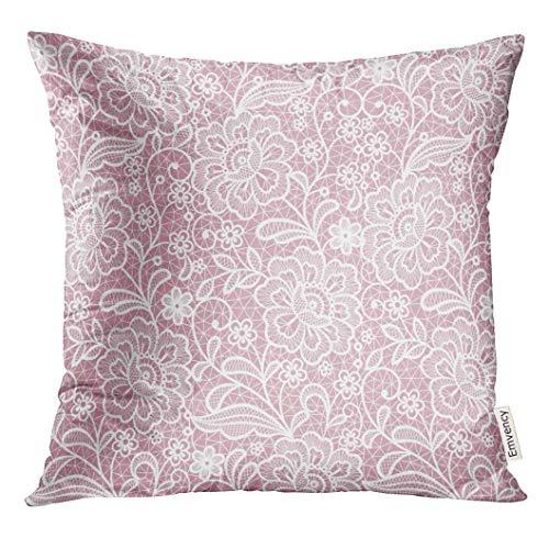artyly Kissen KissenbezugWeiße Häkelspitze-Blumenweinlese-Liebe Decor Square Accent Pillowcase 45x45 cm (Geburtstag Dekorationen Elmo 1.)