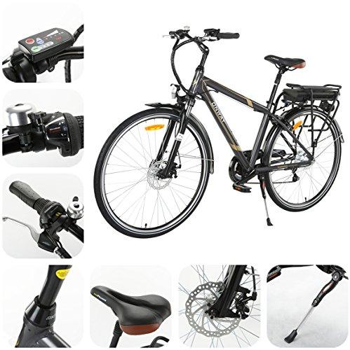 Elektrofahrrad E-Fahrrad 28 Zoll 6-Gang Herren City E-Bike, Präzise SHIMANO 6-Gang, 36V Lithium-Akku
