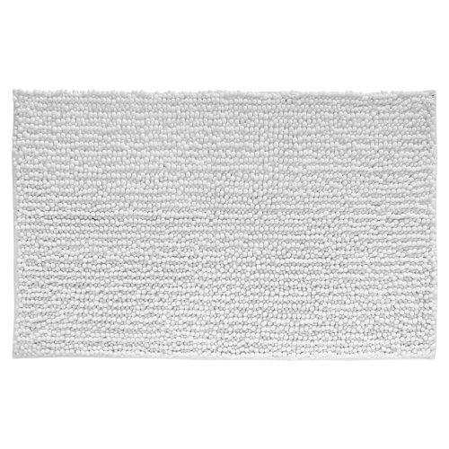 InterDesign 19012EU Mikrofaser-Teppich Frizz, 76 x 51 cm, weiß Badezimmer-teppiche Interdesign