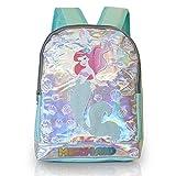Disney Mochila Holográfica Para Niñas | La Sirenita Ariel Mochila Escolar Para Niña Con Texturas Cola De Sirena
