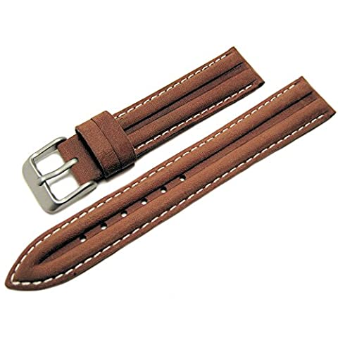 Tan / Light Brown Genuine Leather Water Resistant Watch Strap Band 18mm